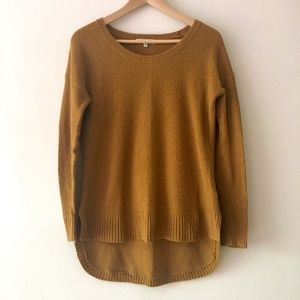 Madewell Chronicle Texture Knit Gold Sweater XS